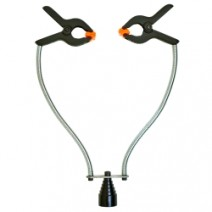 Double Arm Holding Clamp with Magnet Base