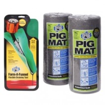 PIG Absorbent Mat & Form-A-Funnel Tool Combo Pack