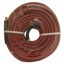 """3/8"""" x 50' 200# Red Rubber Hose Cpld Br 1/4"""" MxM"""