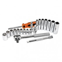 SOCKET SET 1/4IN. DRIVE 21 PC SAE